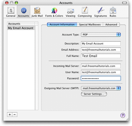 Types Of Email Accounts >> Adding Email Accounts In Apple Mail