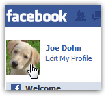 Click on your Facebook profile photo