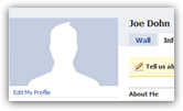 Deleted account photo displays a blank picture on your Facebook profile