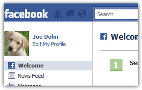 Add or change the picture of your Facebook profile (Upload new photo)