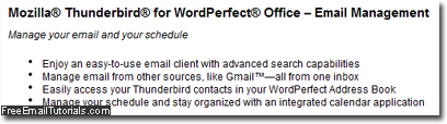 Mozilla Thunderbird offered instead of Corel WordPerfect Mail