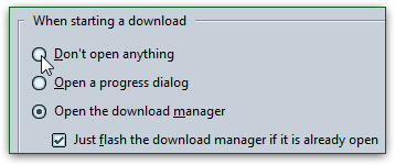 Hide the download manager by default