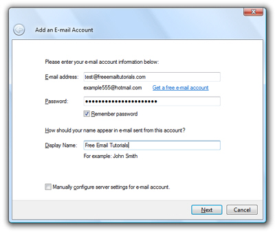 How to set up windows live mail on windows 7 computers.