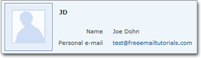 Newly created Hotmail contact