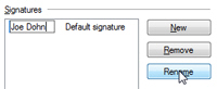 Rename an email signature in Windows Live Mail