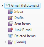 Gmail email folders in Windows Live Mail