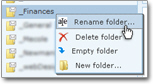 Renaming a Hotmail folder