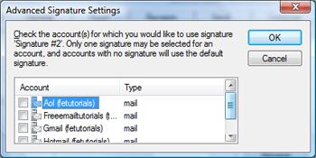 windows live mail signature