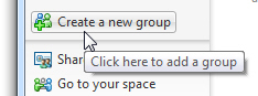 Create a new group button in Windows Live Contacts