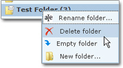 Deleting a Hotmail folder