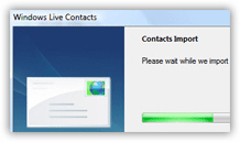 Importing contacts into Windows Live Mail