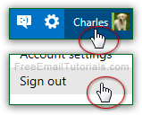 Manually sign out of your Hotmail account!