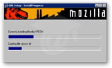 Mozilla Suite installation in process
