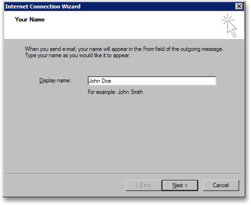 Setting up a new email account in Outlook Express
