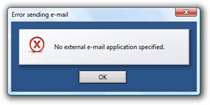 Opera cannot handle email functionality