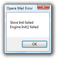 Opera Mail engine failing to initialize