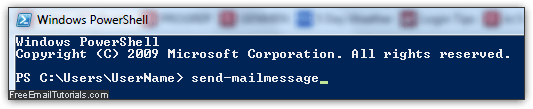 Send emails from command line in Windows