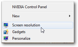 Change screen resolution in Windows 7