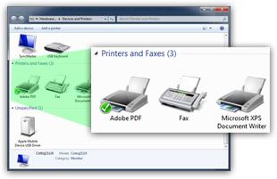 cannot set adobe pdf as default printer