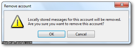 Remove and delete an email account in Opera Mail