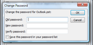 Password-protect Outlook 2007