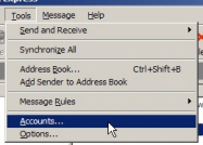 Creating a new email account in Outlook Express