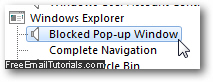 how to turn on pop up blocker in internet explorer