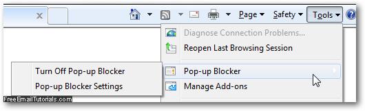 how to change your popup blocker