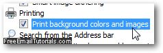 Customize Background Printing Properties In Internet Explorer 8