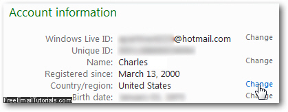 how to change your profile name on hotmail