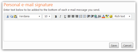change signature line in hotmail