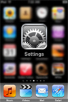 Access iPhone and iPod touch settings