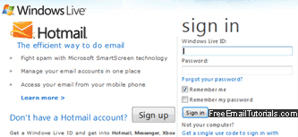 Hotmail New Account Sign Up