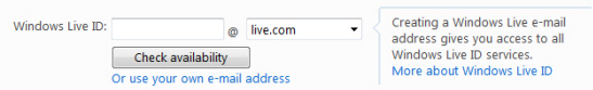Create your Hotmail or Live.com ID (the new email address)