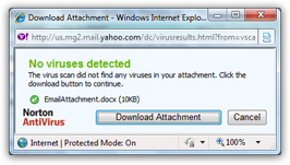 Download email attachments in Yahoo Mail