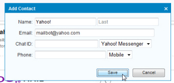 Add a contact in Yahoo Mail + manually create new contacts