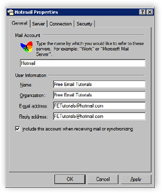 Hotmail email account settings in Outlook Express