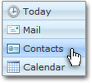 Opening Hotmail's Contacts pane