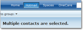 Selecting multiple Hotmail contacts for deletion