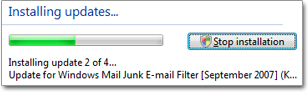 Junk mail filter updates for Windows Mail