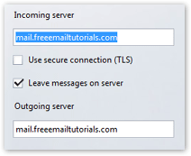 Email account servers collected by Opera Mail (M2)